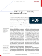 Hum Lang as Cultural Transmitted Replicator