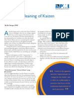 The Real Meaning of Kaizen