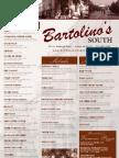 Bartoli No South Dinner Menu 120911