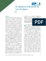 Impacto de la calidad en la dirección de proyectos con Six Sigma