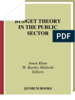 BUDGET Budget Theory in the Public Sector
