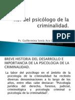 Rol del psicólogo de la criminalidad