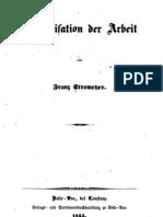 Franz Stromeyer - Organisation Der Arbeit