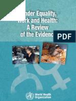 Gender Work Health