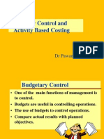 Budgetery Control & ABC