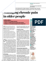 Managing Chronic Pain in Older People by Patrcia Schofield