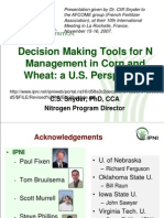 2008. Decision Making Tools for N Management in Corn and Wheat