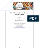 Santa Fe Creative Tourism 2012 / 2013 Report