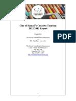 Santa Fe Creative Tourism 2012 / 2013 Report