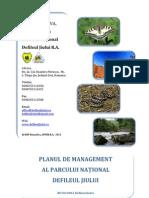 Plan de Management Parc Defileul Jiului