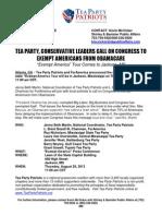 PRESS CONF 8-28-13, 11am ExemptAmerica--Jackson MS News Release