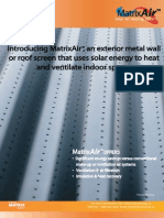 MatrixAir Solar Fresh Air Heating System by Matrix Energy