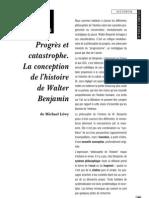 Progrès et catastrophe. La conception de l'histoire de W. Benjamin