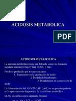 ACIDOSIS METABOLICA