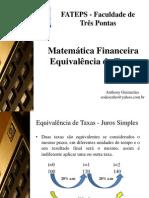 Slides 4 - Equivalência de Taxas
