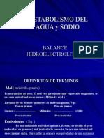 METABOLISMO DEL AGUA Y SODIO