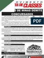 Panfleto MGS - Governo de Minas Gerais demite concursados