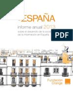 Informe anual sobre el desarrollo de la sociedad de la información en España (2013)