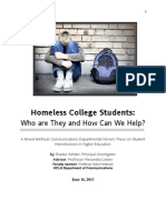 Homeless College Students