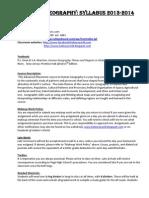2013-2014 Helms AP Human Geo Syllabus