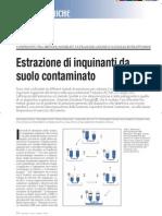 Estrazione di contaminanti dal suolo col Naviglio estrattore