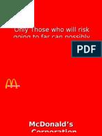 Mc Donalds Marketing India