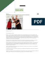 23-08-2013 Diario Xalapa - Suscribe RMV el Acuerdo de Coordinación para la Atención de Albergues