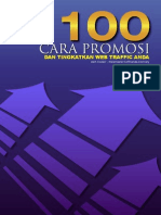 100 Cara Promosi Tingkatkan Web Trafik