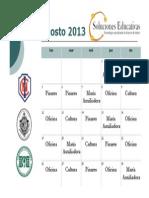 Calendarizacion Agosto