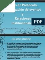 Grado en Protocolo y Organizacion de Eventos