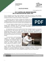 23/08/13 Germán  Tenorio Vasconcelos LA PREVENCIÓN Y CONTROL DEL DENGUE REQUIERE DE LA PARTICIPACIÓN DE TODOS, SSO