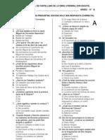 EXAMEN DE CONTROL  DE LA OBRA DON QUIJOTE 10°2013