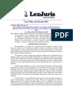 Ley Núm 22 (2011( Transito