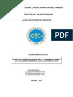 RECEPCIÓN DE REMESAS INTERNACIONALES Y DESEMPEÑO ACADÉMICO EN LA EDUCACIÓN SUPERIOR. EL CASO DE LA UNJFSC 2011-2012