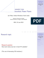 Consumer Loss in Czech Photovoltaic Power Plants in 2010