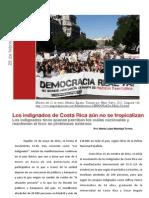 Reportaje - Indignados de Costa Rica aún no se tropicalizan