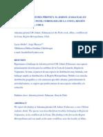 Hallazgo de Adesmia pirionii I. M. Johnst, en el cordón de Pichi, RM. DCJMB221