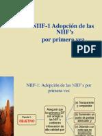NIIF 1 Adopción por primera vez