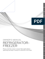 LG GB7138PVXZ Refrigerator Freezer Manual