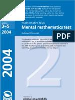 2004 Maths Mental
