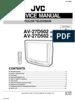 JVC AV-27D50 Manual de Servicio