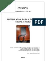 Antena Ativa 500khz 30Mhz