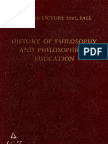 History of Philosophy and Philosophical Education - Gilson