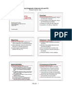 Clinical Diagnostic Criteria for AD and FTD
