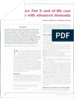 Dementia Care 3 End of Life Care