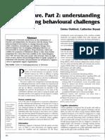 Dementia Care. Part 2 Understanding and Managing Behavioural Challenges