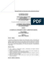 LEY MUNICIPAL N° 001.11 (LEY MUNICIPAL DEL ORDENAMIENTO JURÍDICO Y ADMINISTRATIVO MUNICIPAL.16.08.2011) SANCIONADA para el Ejecutivo.pdf