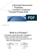 Conducting Process Audits for Municipal Government