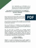 Reglamento de Deliberacion de Las Asambleas Municipales y Delegacionales 20asamblea