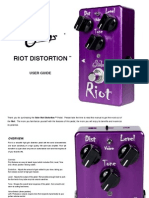Suhr Riot Distortion User Manual